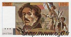 100 Francs DELACROIX modifié FRANCE  1982 F.69.06 pr.NEUF