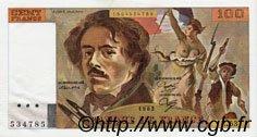 100 Francs DELACROIX modifié FRANCE  1982 F.69.06 SPL+