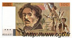 100 Francs DELACROIX modifié FRANCE  1985 F.69.09 pr.NEUF