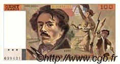 100 Francs DELACROIX modifié FRANCE  1988 F.69.12 pr.NEUF