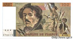 100 Francs DELACROIX modifié FRANCE  1989 F.69.13d SPL+