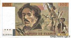 100 Francs DELACROIX modifié FRANCE  1989 F.69.13d SUP