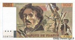 100 Francs DELACROIX modifié FRANCE  1989 F.69.13d