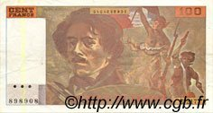 100 Francs DELACROIX imprimé en continu FRANCE  1993 F.69bis.05 SUP+