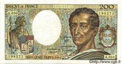 200 Francs MONTESQUIEU FRANCE  1982 F.70.02 pr.SUP