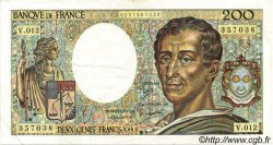 200 Francs MONTESQUIEU FRANCE  1982 F.70.02