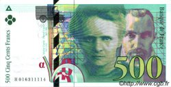 500 Francs PIERRE ET MARIE CURIE FRANCE  1994 F.76.01 SUP