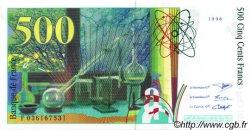 500 Francs PIERRE ET MARIE CURIE FRANCE  1996 F.76.03 SPL
