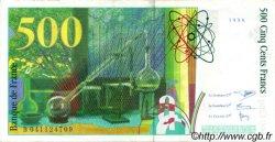 500 Francs PIERRE ET MARIE CURIE FRANCE  1998 F.76.04 TTB+ à SUP