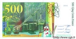 500 Francs PIERRE ET MARIE CURIE FILIGRANE COUPÉ EN DEUX FRANCE  1994 F.76qui.01 SPL+