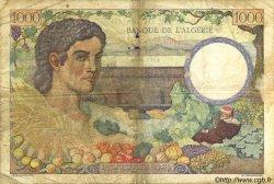 1000 Francs ALGÉRIE SURCHARGÉ FRANCE  1942 VF.10.01 TB+