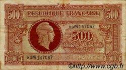 500 Francs MARIANNE FRANCE  1945 VF.11.02 pr.TTB