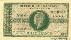 1000 Francs MARIANNE chiffres maigres FRANCE  1945 VF.13.03x TTB+