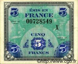 5 Francs DRAPEAU FRANCE  1944 VF.17.03 SPL+