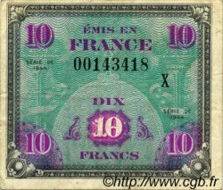 10 Francs DRAPEAU FRANCE  1944 VF.18.02 TB