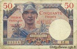 50 Francs TRÉSOR FRANÇAIS FRANCE  1947 VF.31.01 B+