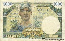 1000 Francs TRÉSOR FRANÇAIS FRANCE  1947 VF.33.01 B