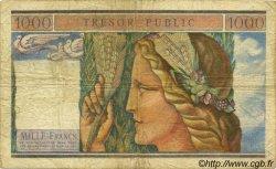 1000 Francs TRÉSOR PUBLIC FRANCE  1955 VF.35.01 B+