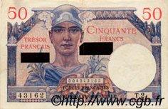 50 Francs SUEZ FRANCE  1956 VF.41.01 SUP
