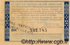 2 Francs BON DE SOLIDARITÉ FRANCE régionalisme et divers  1941 KL.03S4 SUP