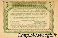 5 Francs BON DE SOLIDARITÉ FRANCE régionalisme et divers  1941 KL.05A3 SPL