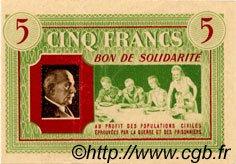 5 Francs BON DE SOLIDARITÉ FRANCE régionalisme et divers  1941 KL.05B4 SUP+