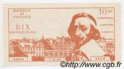 10 Nouveaux Francs RICHELIEU FRANCE régionalisme et divers  1963  SPL