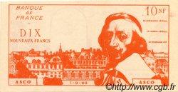 10 Nouveaux Francs RICHELIEU FRANCE régionalisme et divers  1963  NEUF