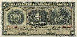 1 Boliviano BOLIVIE  1902 P.092 SPL+