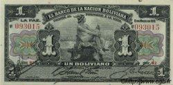 1 Boliviano BOLIVIE  1911 P.102b SPL