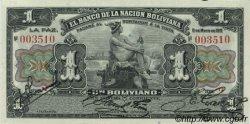 1 Boliviano BOLIVIE  1911 P.102b NEUF