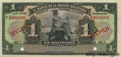 1 Boliviano BOLIVIE  1911 P.102s pr.NEUF