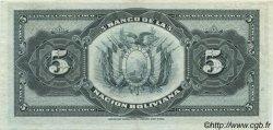 5 Bolivianos BOLIVIE  1911 P.105a SPL