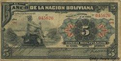 5 Bolivianos BOLIVIE  1911 P.105b B