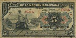 5 Bolivianos BOLIVIE  1911 P.105b pr.TB