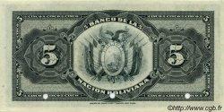 5 Bolivianos BOLIVIE  1911 P.106s pr.NEUF