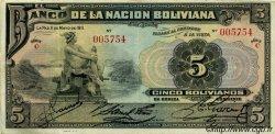 5 Bolivianos BOLIVIE  1911 P.106 TTB+