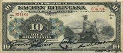 10 Bolivianos BOLIVIE  1911 P.107a TB+