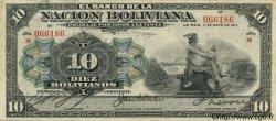 10 Bolivianos BOLIVIE  1911 P.107b TTB