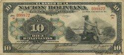 10 Bolivianos BOLIVIE  1911 P.107b TB+
