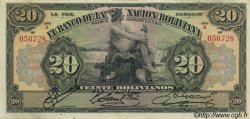 20 Bolivianos BOLIVIE  1911 P.109B TTB