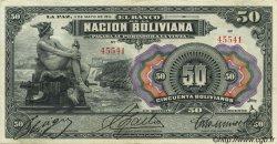 50 Bolivianos BOLIVIE  1911 P.110 TTB à SUP