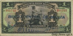 1 Boliviano BOLIVIE  1929 P.112 TB+