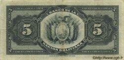 5 Bolivianos BOLIVIE  1929 P.113 TB+