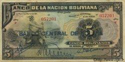 5 Bolivianos BOLIVIE  1929 P.113 TB