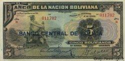 5 Bolivianos BOLIVIE  1929 P.113 SPL