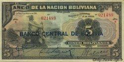 5 Bolivianos BOLIVIE  1929 P.113 TTB
