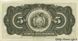 5 Bolivianos BOLIVIE  1928 P.120a SPL
