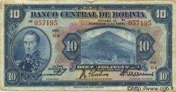 10 Bolivianos BOLIVIE  1928 P.121a TB+