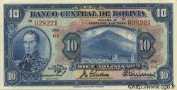 10 Bolivianos BOLIVIE  1928 P.121a SUP à SPL